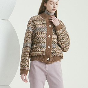 Knitting block tweed jacket