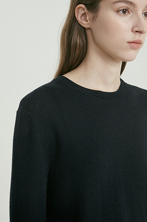 Cashmere rib knit top