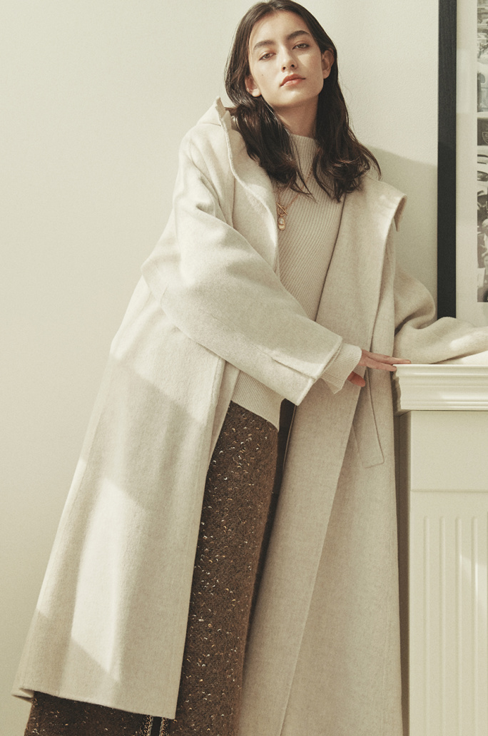 Handmade wide collar coat