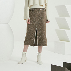 Chain knit skirt