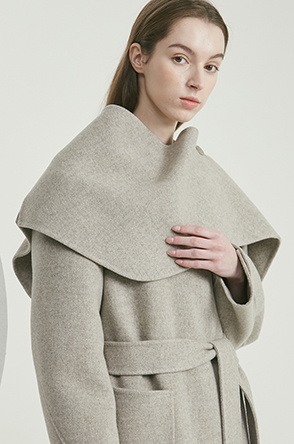 Detachable shawl coat