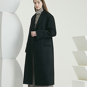 Cashmere open coat