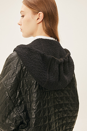 quilted hooded jumper