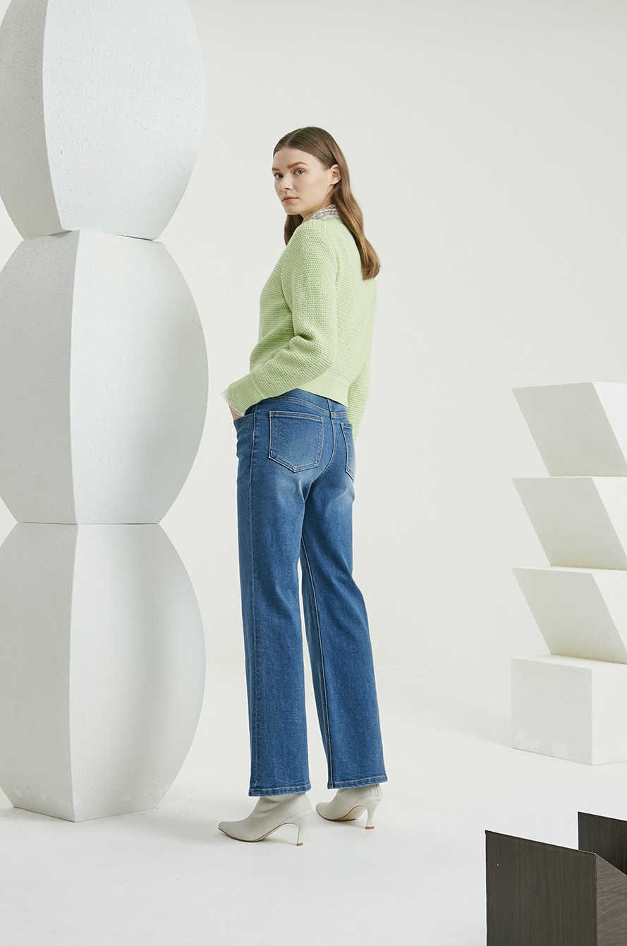 Bell bottom denim pants