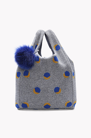 Color dot knitting bag