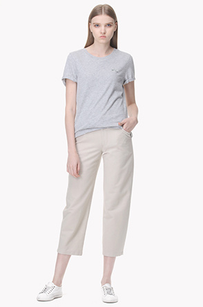 Loose fitted twill pants