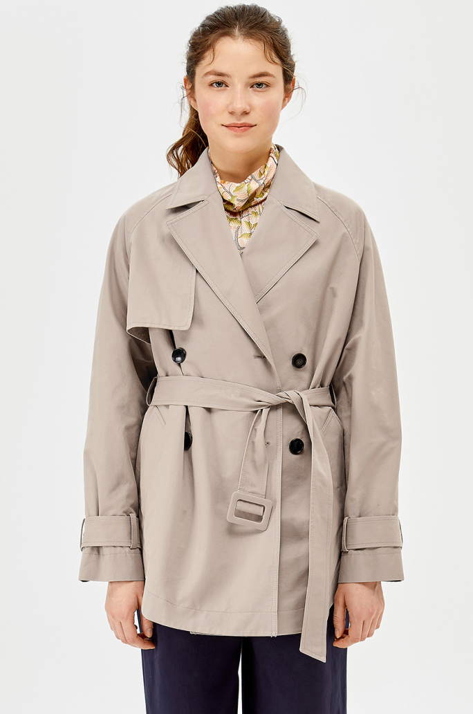 Raglan half trench coat