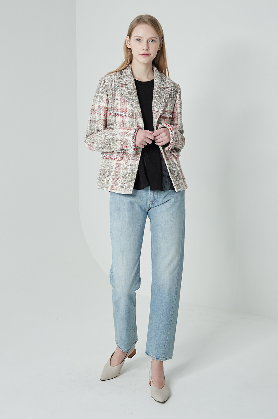 Braid tweed jacket