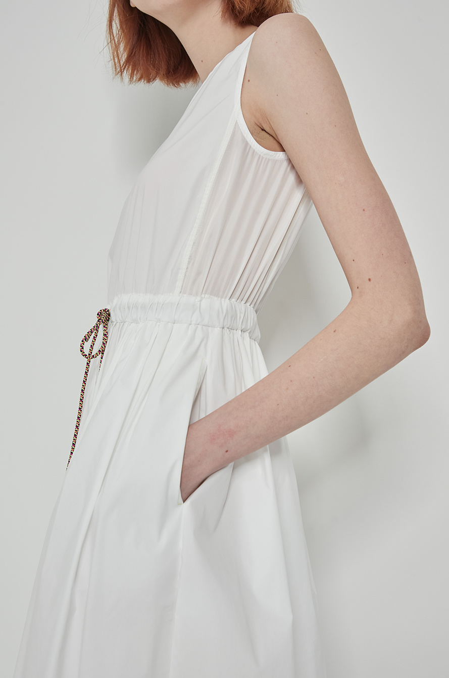 Drawstring slit dress