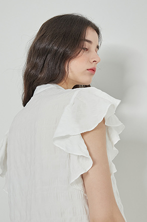 Frill check top