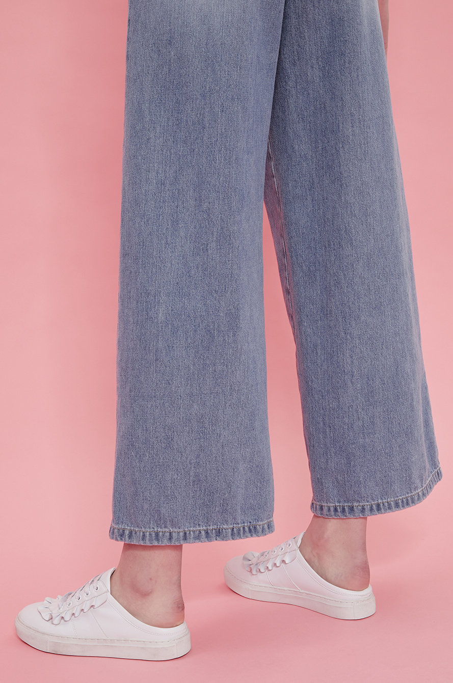 Pearl wide denim pants