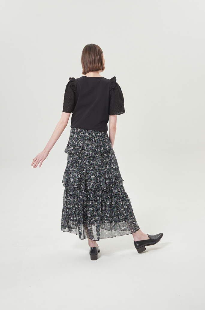 flower frill skirt