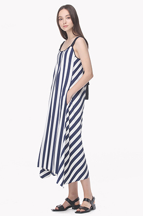Stripe strap maxi dress