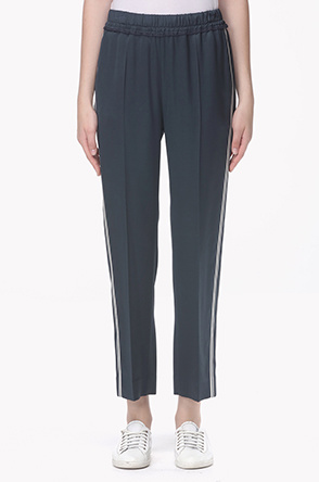 Side color line track pants