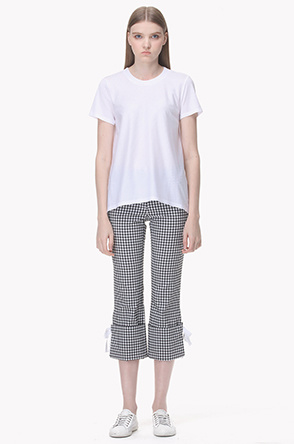 Checked stretch pants