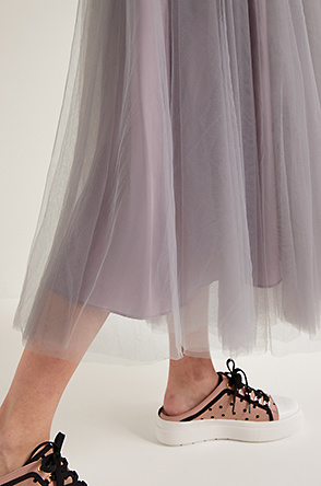 Tulle layer skirt