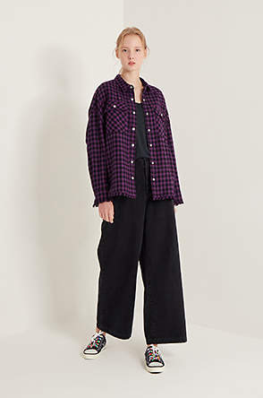 Sequin check jumper