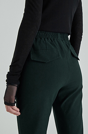 Slit banding pants