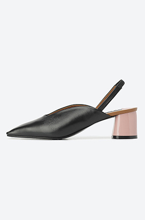 Square toe sling backs
