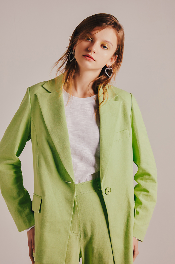 Color linen jacket