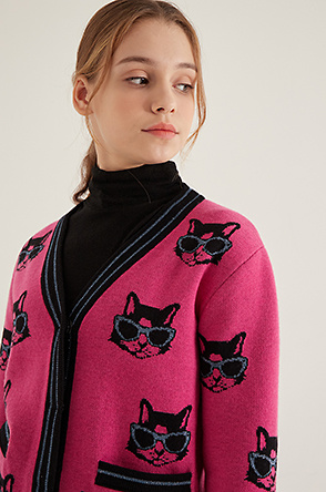 Cats knit cardigan