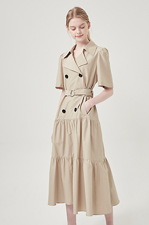 Belted double dress