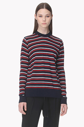 [ETRE CECILE] Two tone stripe knit sweater