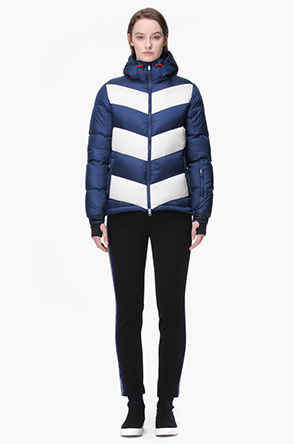 [PERFECT MOMENT] Color patch quilting goose down ski jumper