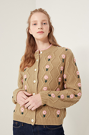 [SHRIMPS] Floral knit cardigan