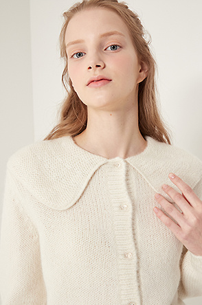 [SHRIMPS] Sailor collar knit cardigan