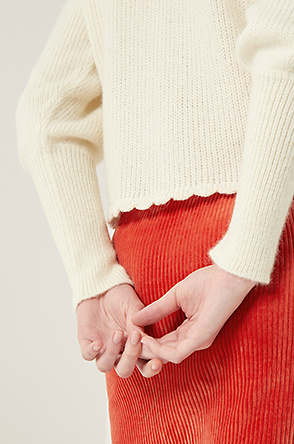 [SHRIMPS] Flower patch knit sweater