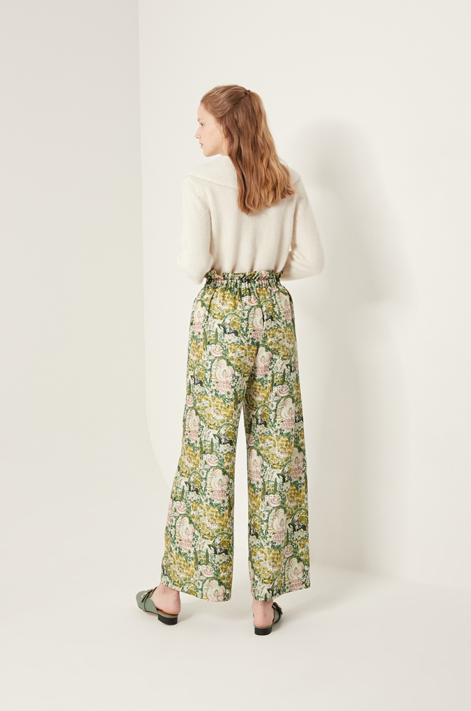 [SHRIMPS] Silk print pants
